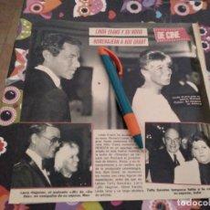 Colecionismo de Revistas e Jornais: ANTIGUO RECORTE REVISTA AÑO 1986 LINDA EVANS Y RICHARD COHEN HOMENAJEAN A BUD GRANT. Lote 119454731