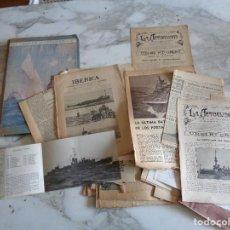 Coleccionismo de Revistas y Periódicos: NOVENTA RECORTES DE PERIODICOS SOBRE MARINA DE GUERRA. 783. Lote 119507279