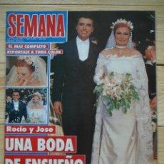 Coleccionismo de Revistas y Periódicos: SEMANA Nº2872 ROCÍO Y JOSE. UNA BODA DE ENSUEÑO. MARZO 1995. BODA ROCÍO JURADO. Lote 119577927