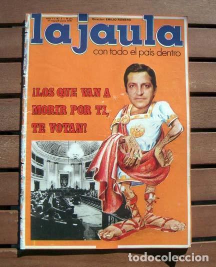 REVISTA LA JAULA / BARBARA REY AL DESNUDO, ROCIO JURADO, FESTIVAL DE CANNES, UN DOS TRES (Coleccionismo - Revistas y Periódicos Modernos (a partir de 1.940) - Otros)