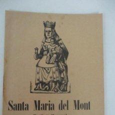 Coleccionismo de Revistas y Periódicos: SANTA MARIA DEL MONT - BULLETÍ MENSUAL Nº 48 - AÑO 1932. Lote 119855655
