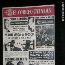 Coleccionismo de Revistas y Periódicos: F1 EL CORREO CATALAN AÑO 1974 SOLO PORTADA NIXON LLEGA A MOSCU . Lote 119893967