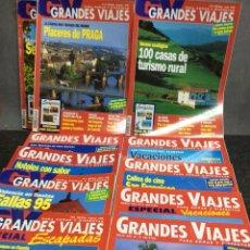 Coleccionismo de Revistas y Periódicos: REVISTA GRANDES VIAJES - LOTE DE 11 EJEMPLARES - EDITADAS AÑOS 90. Lote 119899311