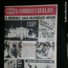 Coleccionismo de Revistas y Periódicos: F1 EL CORREO CATALAN AÑO 1974 SOLO PORTADA LA INCREIBLE SAGA WATERGATE - NIXON. Lote 119960703