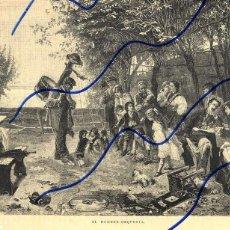 Coleccionismo de Revistas y Periódicos: HOMBRE-ORQUESTA 1887 ILUSTRACION HOJA REVISTA. Lote 120015963
