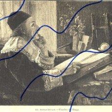 Coleccionismo de Revistas y Periódicos: BIBLIOFILO 1889 ILUSTRACION HOJA REVISTA. Lote 120017731