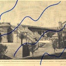 Coleccionismo de Revistas y Periódicos: BARCELONA 1889 EXPOSICION UNIVERSAL VIADUCTO ILUSTRACION HOJA REVISTA. Lote 120017831