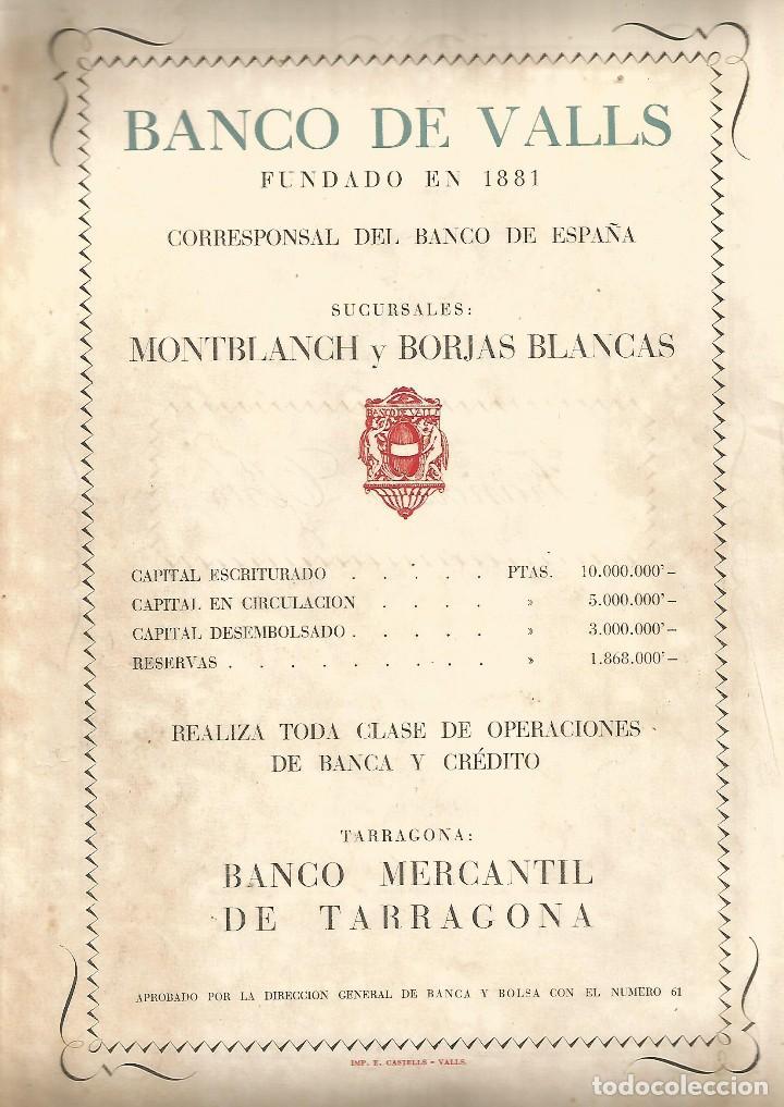 Coleccionismo de Revistas y Periódicos: JUVENTUD SEMANARIO NACIONAL SINDICALISTA Nº EXTRAORDINARIO VALLS 1951 FIESTAS STA Mª DE LA CANDELA - Foto 2 - 120030503