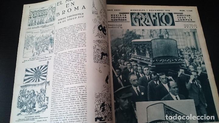 Coleccionismo de Revistas y Periódicos: REVISTA POPULAR ILUSTRADA MUNDO GRÁFICO 1 NOVIEMBRE 1933 - NUM 1148 AÑO XXIII - REPÚBLICA - Foto 2 - 120046903