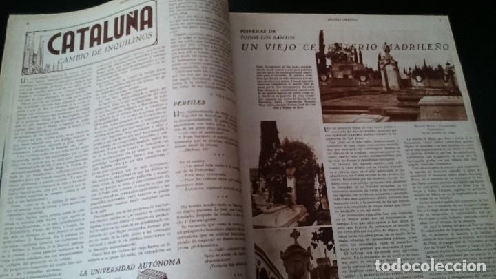 Coleccionismo de Revistas y Periódicos: REVISTA POPULAR ILUSTRADA MUNDO GRÁFICO 1 NOVIEMBRE 1933 - NUM 1148 AÑO XXIII - REPÚBLICA - Foto 3 - 120046903