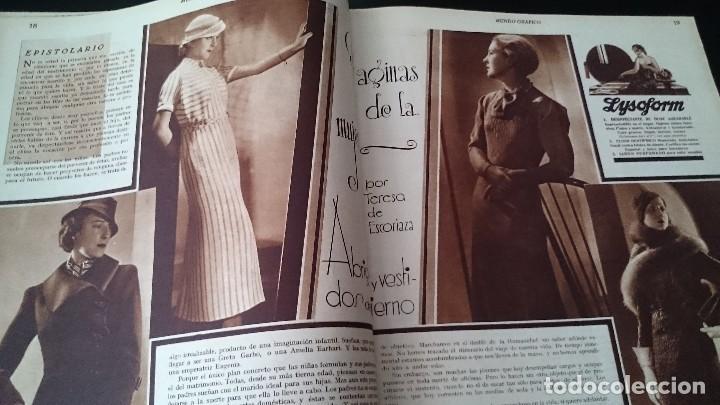 Coleccionismo de Revistas y Periódicos: REVISTA POPULAR ILUSTRADA MUNDO GRÁFICO 1 NOVIEMBRE 1933 - NUM 1148 AÑO XXIII - REPÚBLICA - Foto 6 - 120046903