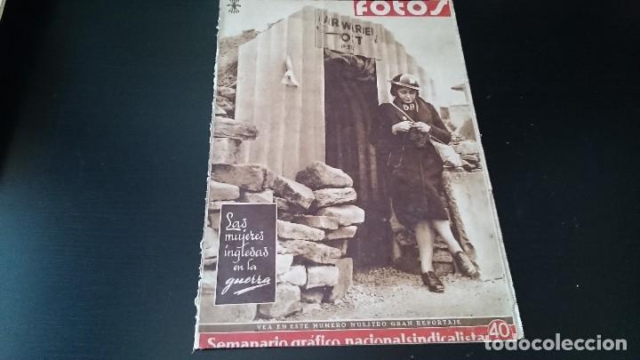 SEMANARIO GRÁFICO NACIONALSINDICALISTA FOTOS 11 NOVIEMBRE 1939 AÑO III N 141 (Coleccionismo - Revistas y Periódicos Antiguos (hasta 1.939))