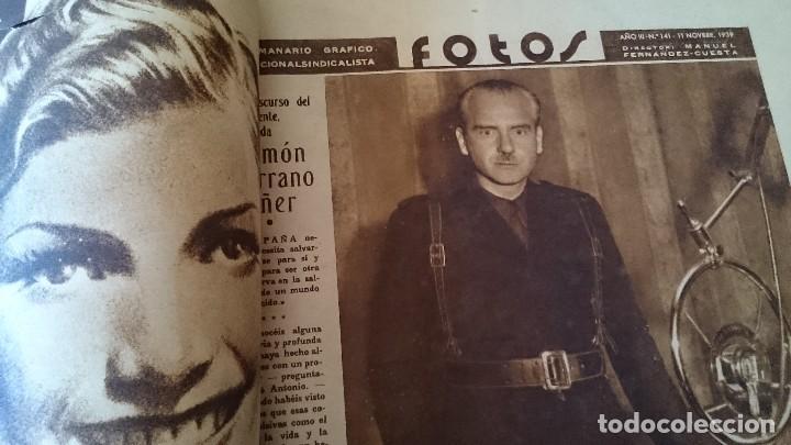 Coleccionismo de Revistas y Periódicos: SEMANARIO GRÁFICO NACIONALSINDICALISTA FOTOS 11 NOVIEMBRE 1939 AÑO III N 141 - Foto 2 - 120051095