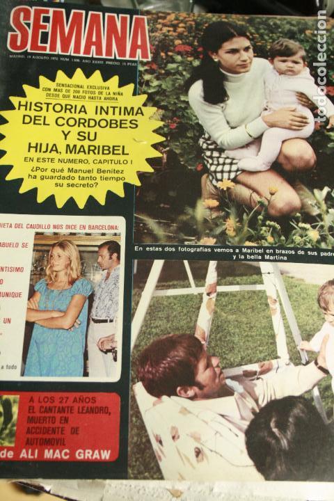 CAMILO SESTO SALVADOR DALI MARIO CABRE ALI MAC GRAW TOPOL UN DOS TRES MISS LEANDRO 1972 (Coleccionismo - Revistas y Periódicos Modernos (a partir de 1.940) - Otros)
