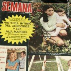 Coleccionismo de Revistas y Periódicos: CAMILO SESTO SALVADOR DALI MARIO CABRE ALI MAC GRAW TOPOL UN DOS TRES MISS LEANDRO 1972. Lote 120204531