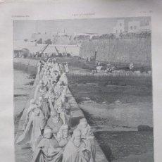 Coleccionismo de Revistas y Periódicos: HAREM 1908 MARRUECOS MAZAGAN A TANGER HOJA REVISTA. Lote 120283827