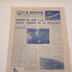 Coleccionismo de Revistas y Periódicos: BOLETÍN INFORMATIVO C. D. MÁLAGA.. Lote 120344887