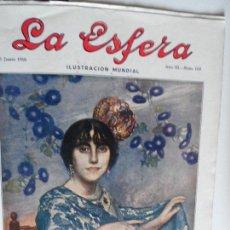 Coleccionismo de Revistas y Periódicos: LA ESFERA ILUSTRACION MUNDIAL REVISTA AÑO III Nº 128 10-06-1916. Lote 120457335