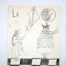 Coleccionismo de Revistas y Periódicos: FANZINE LITERARIO LA HORDA BÁRBARA N.º 1. VALENCIA, 1983. Lote 120542498