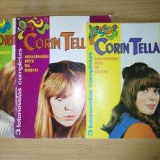 Coleccionismo de Revistas y Periódicos: CORIN TELLADO-3 FOTONOVELAS EN CADA TOMO-3 TOMOS- EDITORIAL ROLLAN.. Lote 120606916