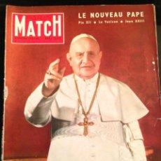 Coleccionismo de Revistas y Periódicos: REVISTA PARIS MATCH - EDICIÓN ESPECIAL - AÑO 1958. LE NOUVEAU PAPE. Lote 120661435