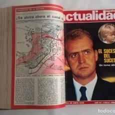 Coleccionismo de Revistas y Periódicos: REVISTAS ANTIGUAS ENCUADERNADAS:LA ACTUALIDAD ESPAÑOLA.CRÓNICA DE SIETE DÍAS,DEL AÑO 1973 Y 1974. Lote 120701995