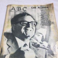 Coleccionismo de Revistas y Periódicos: PERIÓDICO ABC GOLPE DE ESTADO EN CHILE 12 SEPTIEMBRE 1973 CAE ALLENDE ORIGINAL COMPLETO. Lote 120888747