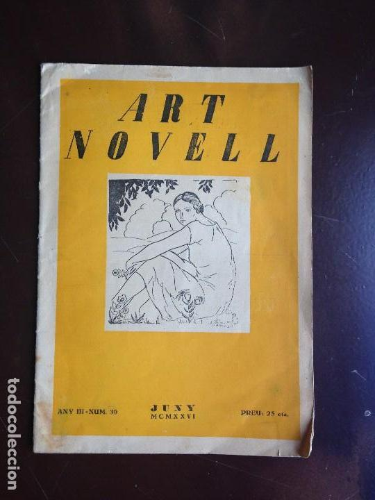 Coleccionismo de Revistas y Periódicos: ART NOVELL - REVISTA DE JOVENTUT- NUMERO 30 - JUNIO 1926 - Foto 2 - 120950303