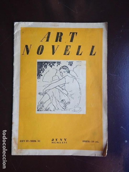 ART NOVELL - REVISTA DE JOVENTUT- NUMERO 30 - JUNIO 1926 (Coleccionismo - Revistas y Periódicos Antiguos (hasta 1.939))