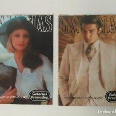 Coleccionismo de Revistas y Periódicos: LOTE DE 2 REVISTAS GALERÍAS PRECIADOS 1975. Lote 121075211