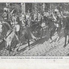Coleccionismo de Revistas y Periódicos: 1906 HOJA REVISTA MADRID REY DE PORTUGAL CARLOS I ALFONSO XIII COCHE CABALLOS CALLE ALCALÁ COMITIVA. Lote 121381987