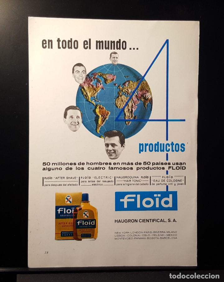 Hoja Publicidad. Cara 1: Floid para Caballeros. Cara 2: Gabardinas Tergal.(READERS DIGEST 1965) segunda mano