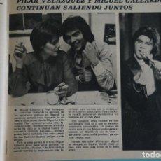Colecionismo de Revistas e Jornais: RECORTE REPORTAJE CLIPPING DE PILAR VELAZQUEZ Y MIGUEL GALLARDO REVISTA SEMANA Nº 1934. Lote 121772207
