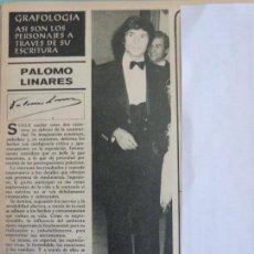 Coleccionismo de Revistas y Periódicos: RECORTE REPORTAJE CLIPPING DE PALOMO LINARES REVISTA SEMANA Nº 1943. Lote 121888003
