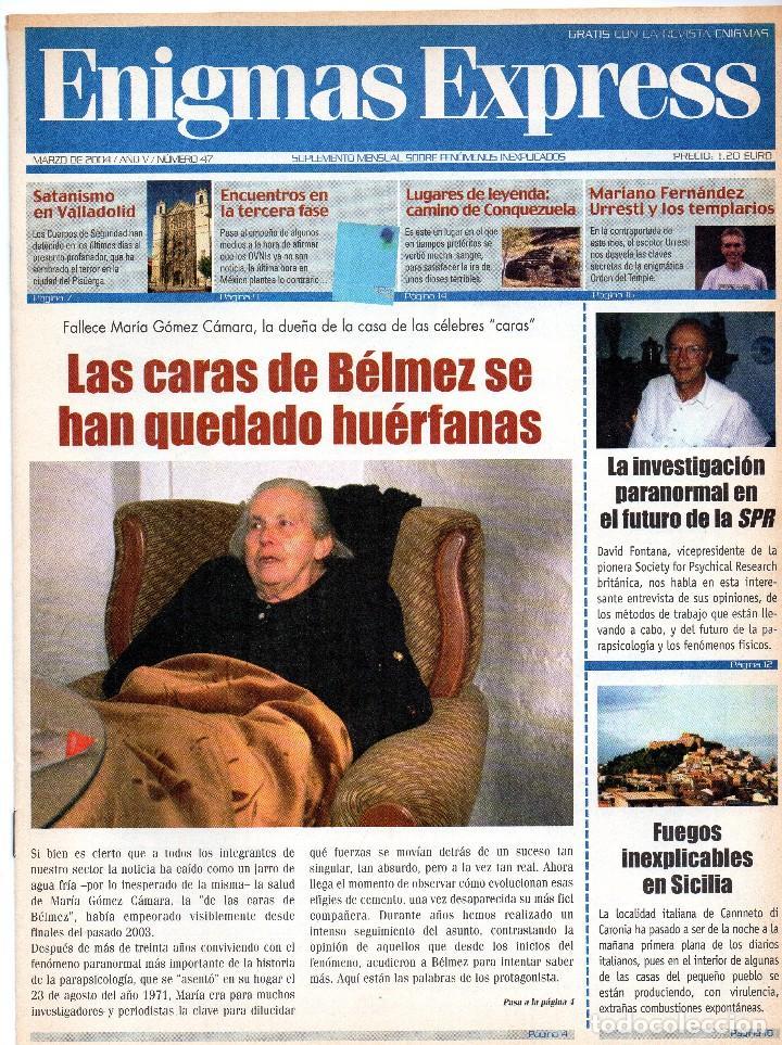 Coleccionismo de Revistas y Periódicos: revista esotérica enigma nº 100 con suplemento - Foto 3 - 121897299
