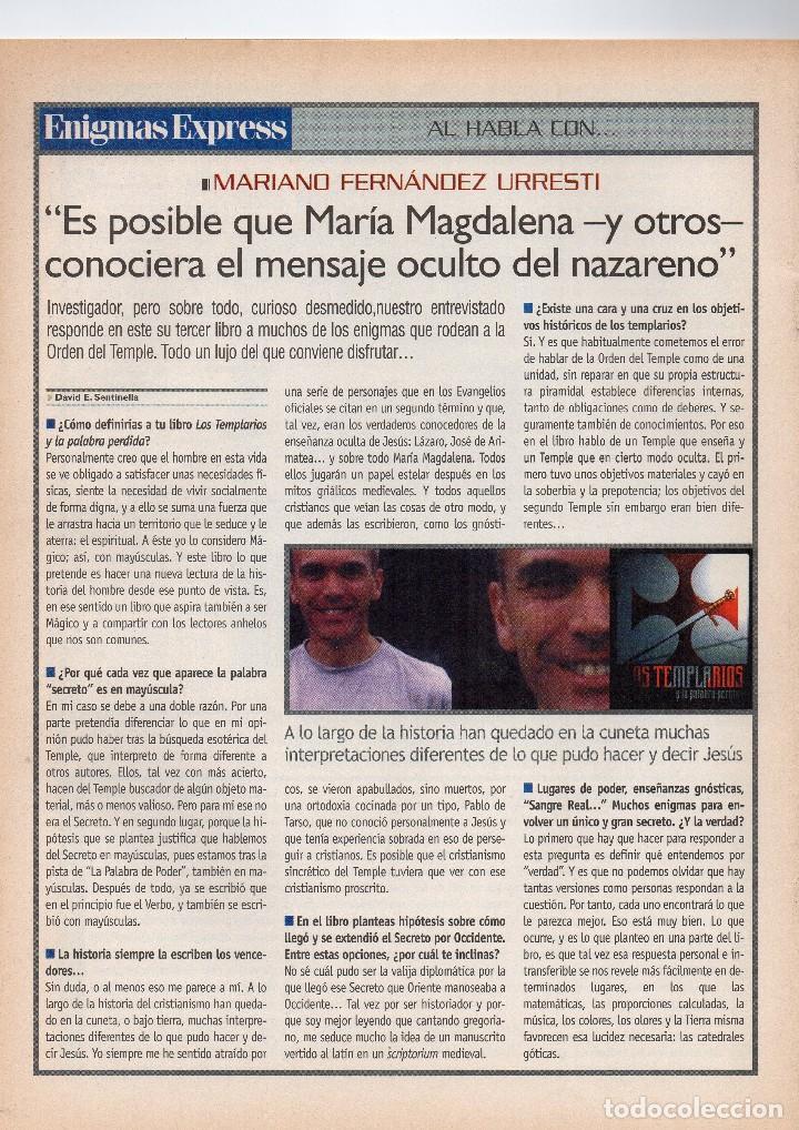 Coleccionismo de Revistas y Periódicos: revista esotérica enigma nº 100 con suplemento - Foto 4 - 121897299