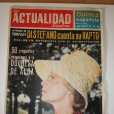 Coleccionismo de Revistas y Periódicos: REVISTA LA ACTUALIDAD ESPAÑOLA 609 DUQUESA DE ALBA DI STEFANO 1963. Lote 122117735