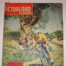 Coleccionismo de Revistas y Periódicos: REVISTA ACTUALIDAD ESPAÑOLA 1956 CICLISMO RAINIERO Y GRACE NUMERO 225. Lote 122118251