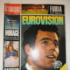 Coleccionismo de Revistas y Periódicos: REVISTA ACTUALIDAD ESPAÑOLA 946 JULIO IGLESIAS EUROVISION 1970. Lote 122118747