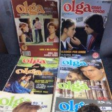 Coleccionismo de Revistas y Periódicos: FOTONOVELA - OLGA GRAN COLOR - LOTE DE 8 EJEMPLARES. Lote 122126959