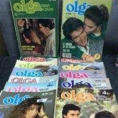 Coleccionismo de Revistas y Periódicos: FOTONOVELA - OLGA GRAN COLOR - LOTE DE 21 EJEMPLARES. Lote 122128927