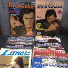 Coleccionismo de Revistas y Periódicos: FOTONOVELA - LUNELA GRAN COLOR - LOTE DE 21 EJEMPLARES. Lote 122134623