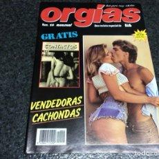 Coleccionismo de Revistas y Periódicos: ORGIAS Nº 10 , UNA REVISTA ESPECIAL DE LIB - ( REVISTA EROTICA DE LOS 80 ). Lote 122136588