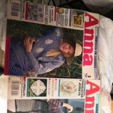 Coleccionismo de Revistas y Periódicos: OFERTA 11 REVISTAS ANNA BURDA - FANTASIA EN LABORES DE LOS AÑOS 90. CONTIENE PATRONES. Lote 122164539