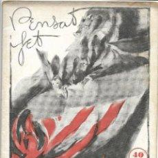 Coleccionismo de Revistas y Periódicos: 1935 REVISTA DE FALLAS PENSAT I FET VALENCIA. Lote 122215027