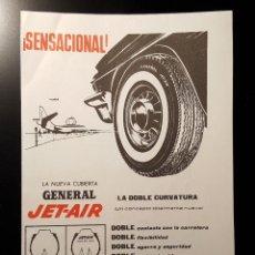 Coleccionismo de Revistas y Periódicos: HOJA PUBLICIDAD. NEUMATIOS GENERAL. NUEVA CUBIERTA JET-AIR. (READERS DIGEST 1963). Lote 122235095