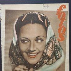 Coleccionismo de Revistas y Periódicos: REVISTA FOTOS 1952 PERLITA GRECO LUISA ORTEGA EL LADRON DE VENECIA ALVARO DE LA IGLESIA ATLANTIDA. Lote 122262179