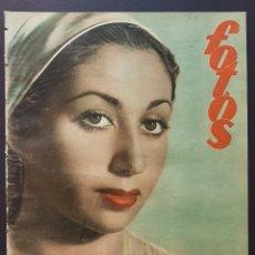 Coleccionismo de Revistas y Periódicos: REVISTA FOTOS 1952 LUISITA ORTEGA HUDIMIENTO DEL LUISITANIA LUIS MIGUEL DOMINGUIN. Lote 122262323