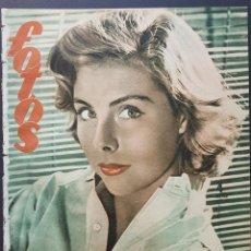 Coleccionismo de Revistas y Periódicos: REVISTA FOTOS 1952 BETSY VON FURSTENBER DALLAS CIUDAD FRONTERIZA AVA GARDNER LANA TURNER PAULETTE. Lote 122262603