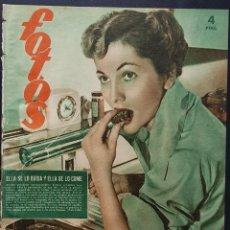 Coleccionismo de Revistas y Periódicos: REVISTA FOTOS 1952 JOAN FONTAINE JOSEFINA BAKER HITLER COVADONGA. Lote 122263307